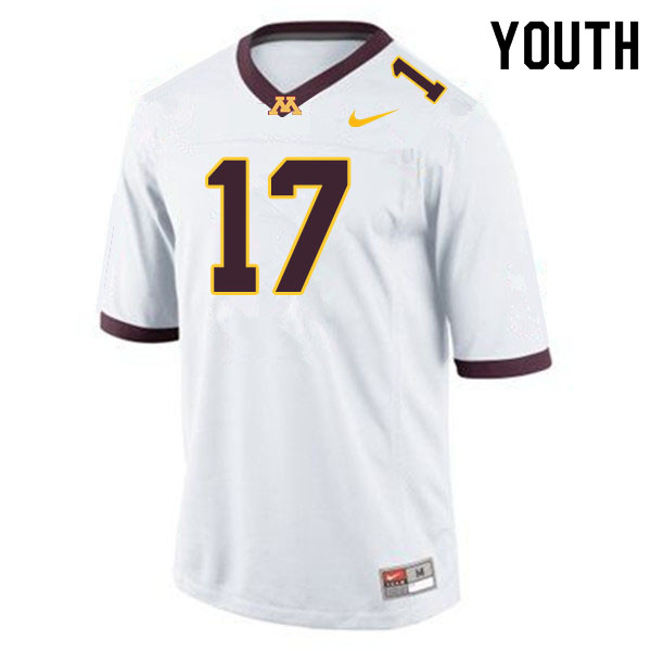 Youth #17 Seth Green Minnesota Golden Gophers College Football Jerseys Sale-White