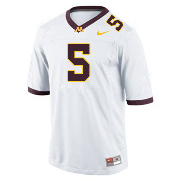 Men #5 Zack Annexstad Minnesota Golden Gophers College Football Jerseys Sale-White